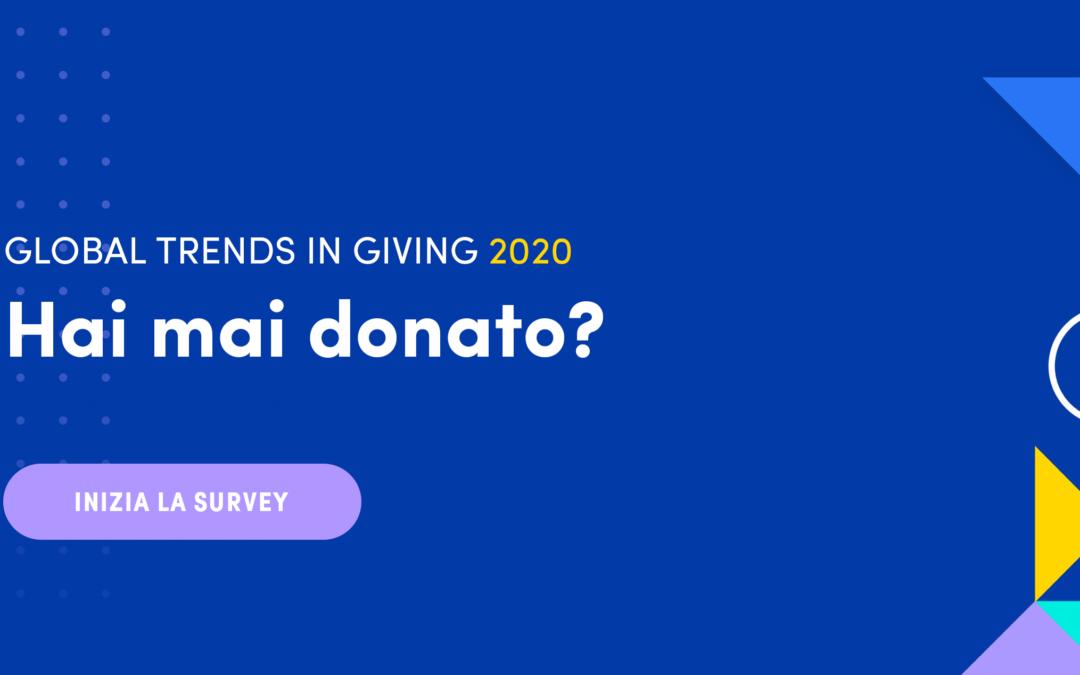 Dì la tua opinione nei Global Trends in Giving