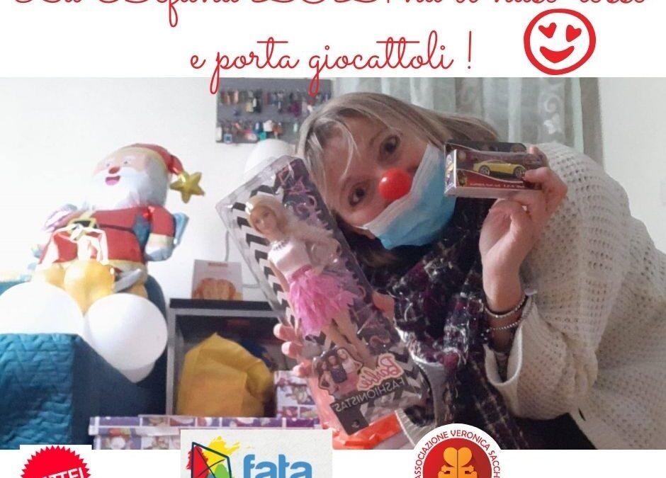 Una Befana col Naso Rosso ha portato sorrisi ai bambini di Fata Onlus