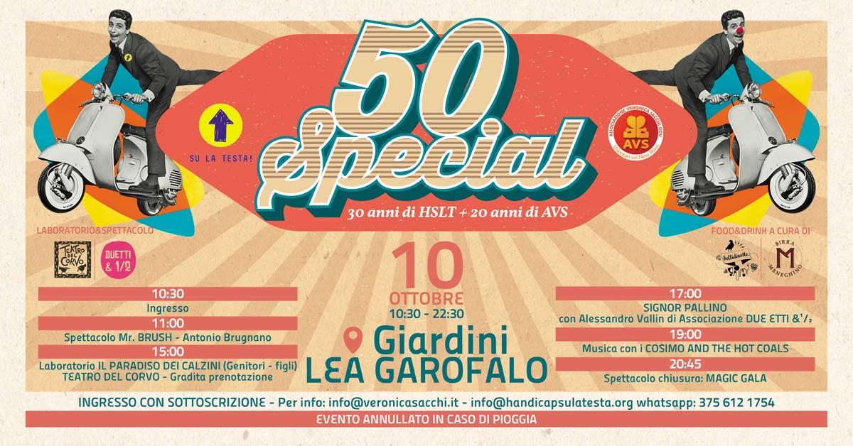 Festa solidale 50 Special a Milano il 10 ottobre 2021